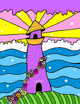 Psychedelic Lighthouse by Jayme Kinsey