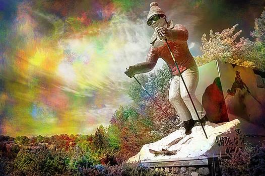 Psychedelic Skier by Mary Lee Dereske