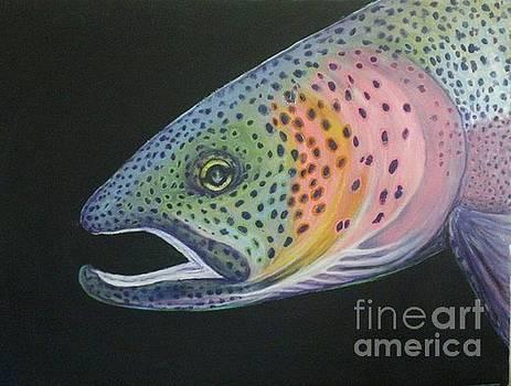 Psychedelic trout by Maria Elena Gonzalez