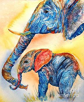 Psychedeliphants by Donna Martin