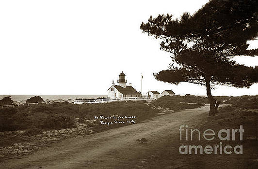 Pt. Pinos Lighthouse,  Pacific Grove Circa 1895 by California Views Mr Pat Hathaway Archives