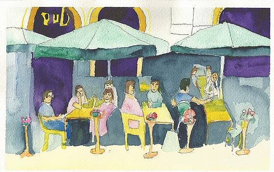 Pub in Harry Hjornes Plats by Paul Thompson