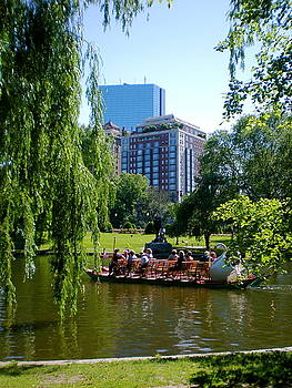 Public Garden and the Swan Boats by Maria Mills