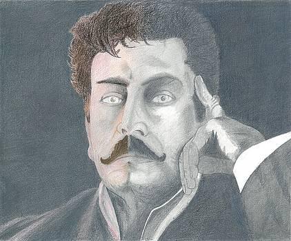 Giacomo Puccini Reflections Portrait by Bernardo Capicotto