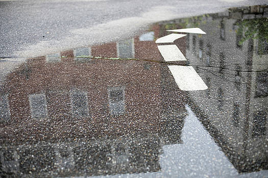 Puddle Arrow with Reflections by Morgain Bailey