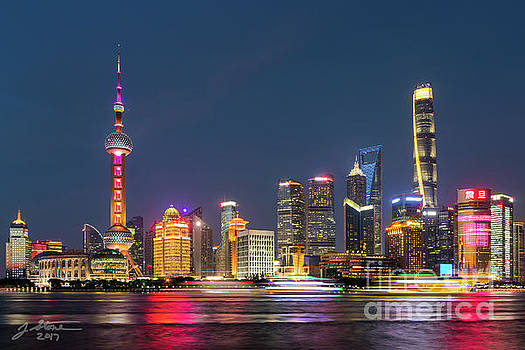 Pudong at Night by Jeffrey Stone