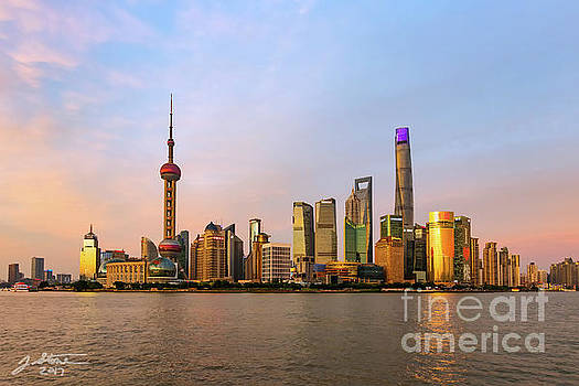 Pudong Twilight by Jeffrey Stone