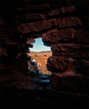 Pueblo Peephole by James Rasmusson