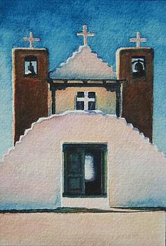 Pueblo Taos church by Cherie Sikking