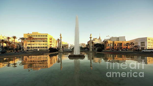 Puerta de Tierra Fountain Golden Hour Cadiz Spain by Pablo Avanzini