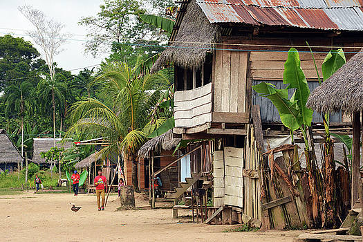Harvey Barrison - Puerto Miguel Village Scene Two