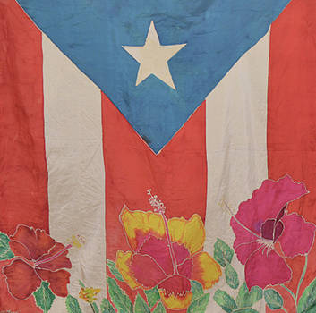 Puerto Rican Flag  by Melissa Torres
