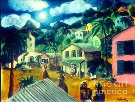 Puerto Rican Village Dusk by Jose Breaux