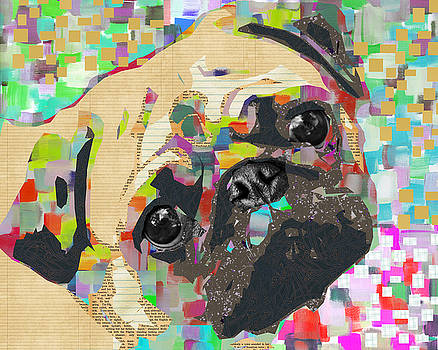 Pug Collage by Claudia Schoen