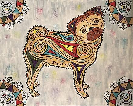 Pug- Jester Cornelius by Susie WEBER