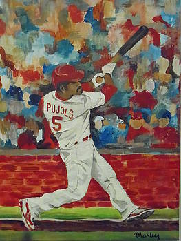 Pujols at Bat by Made by Marley