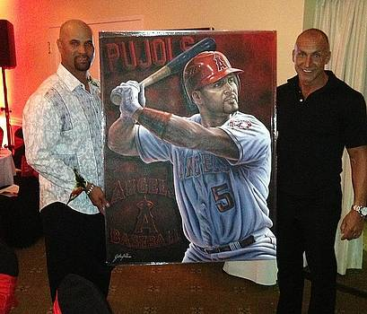 Pujols Original painting Sold by Sports Art World Wide John Prince