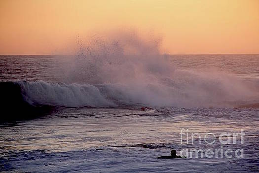 Pull of the Full Moon at the Wedge Newport Beach by Linda Queally