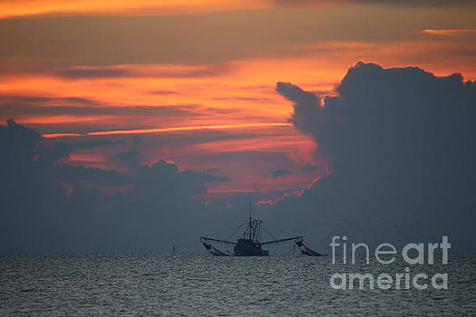 Pulling Nets at Dawn by Marty Fancy