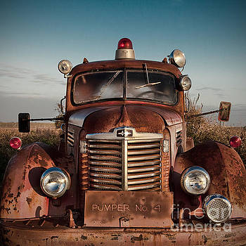Pumper No 4 Fire Truck in the Mississippi Delta by T Lowry Wilson