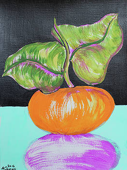 Pumpkin and Purple Shadow by Julie Pitman