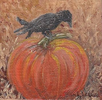 Pumpkin Crow by Linda Clark