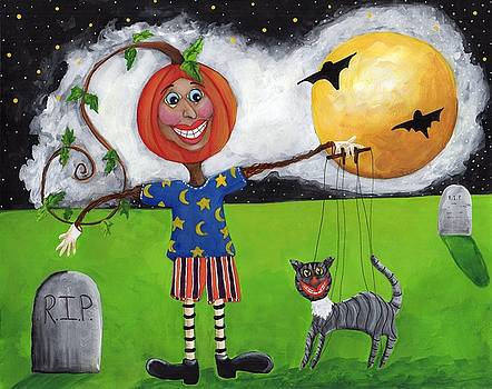 Pumpkin Face by Clover Moon Designs Peggy Sowers-Heckman