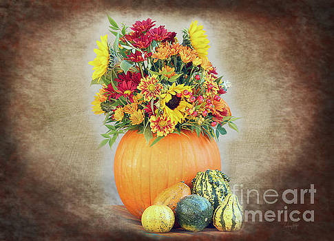 Pumpkin Floral display by Anthony Forster
