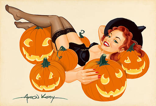 Pumpkin pin up by Aaron Kirby