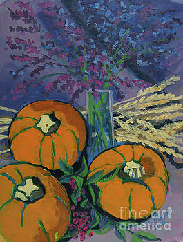Pumpkins and Wheat by Erin Fickert-Rowland