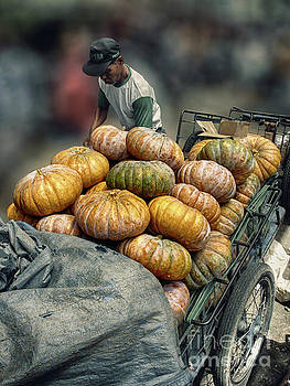Pumpkins in The Cart  by Charuhas Images