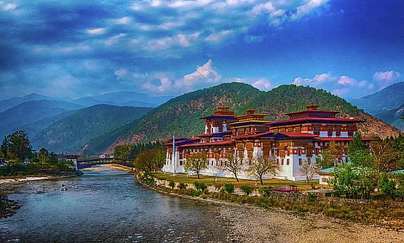 Punakha Dzong by Pravine Chester
