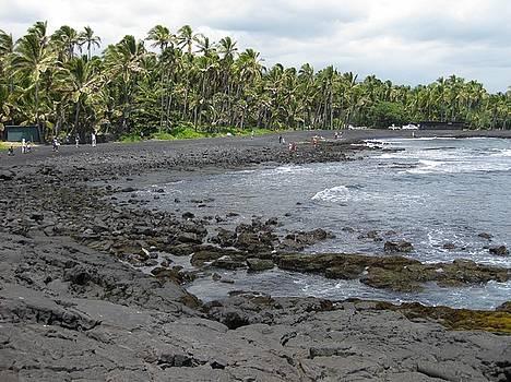 Punalu'u Black Sand Beach by Joscelyn Paine