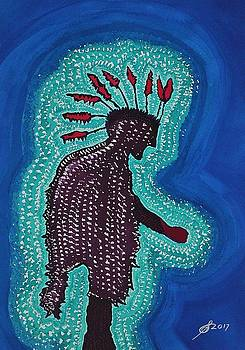 Punk Shaman original painting by Sol Luckman