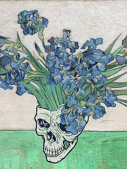 Punk van Gogh Irises Skull by Tony Rubino