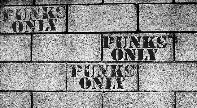 Punks Only Brick Wall Sign by Jera Sky