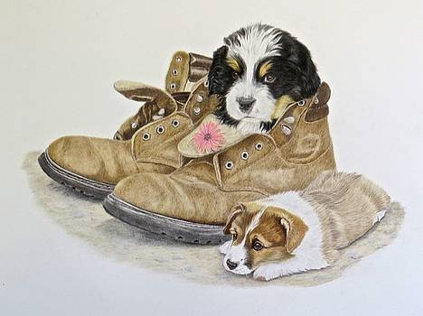Pup n boots by Michelle McAdams