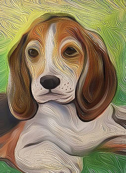 Puppy Beagle by Jorge Carrillo