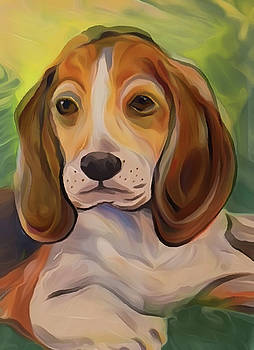 Puppy Beagle Oil by Jorge Carrillo