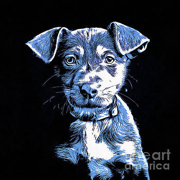 Puppy Dog Graphic Novel Drawing by Edward Fielding