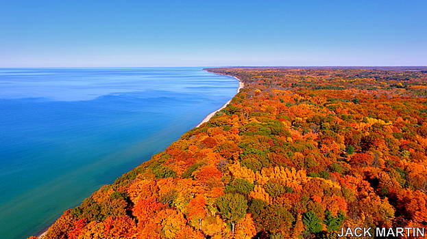 Pure Michigan Autumn Colors Lake Michigan Dreams by Jack Martin