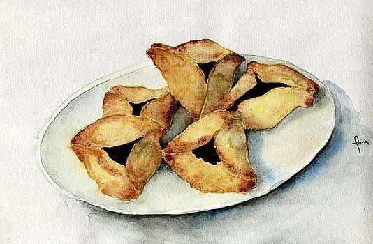 Purim cookies by Annemeet Hasidi- van der Leij