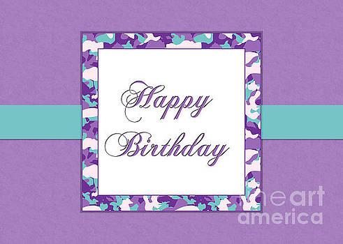 JH Designs - Purp Teal Camo Birthday