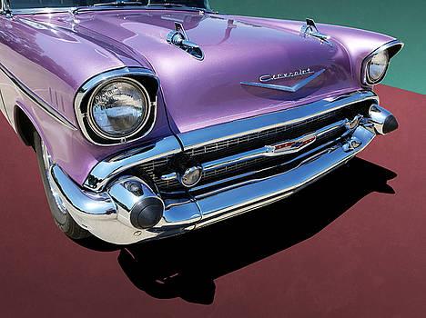 Purple 1950s Chevrolet Wagon Front End by Debi Dalio