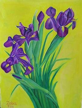 Purple And Green by Ziba Bastani