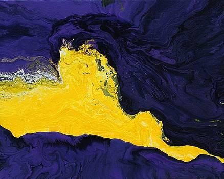 Karin Kohlmeier - Purple and Yellow Abstract