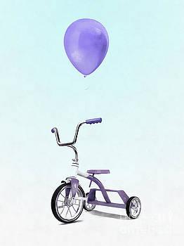 Purple Balloon Purple Tricycle by Edward Fielding