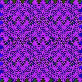 Purple Black Geometric Wave Pattern by BrightVibesDesign