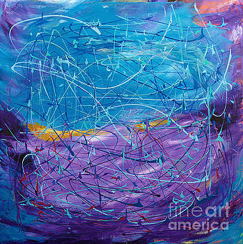 Purple/Blue Abstract by Art by Danielle