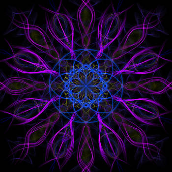 Adam Romanowicz - Purple Blue Kaleidoscope Square